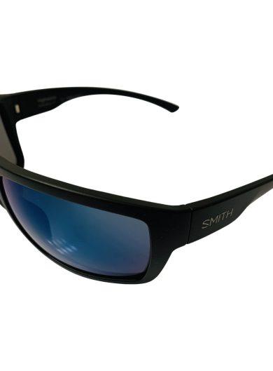 Smith Highwater Sunglasses - Matte Black Sport Frame - ChromaPop+ Polarized Blue Mirror