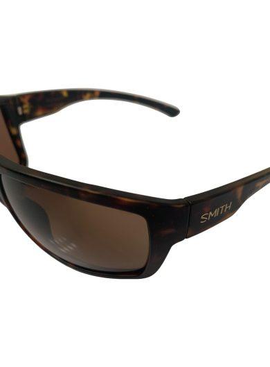 Smith Highwater Sunglasses - Matte Dark Amber Tortoise Frame - ChromaPop+ Polarized Brown Mirror