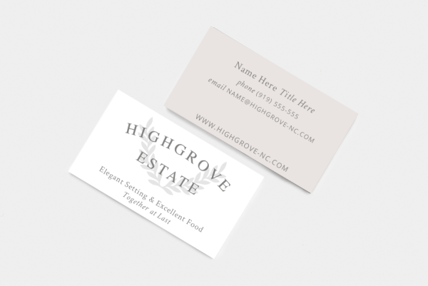 Highgrove Estate Web Design | Native State Design Co.