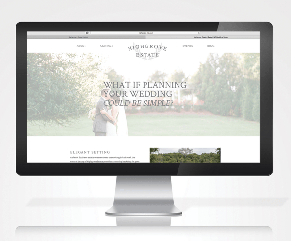 Highgrove Estate Web Design
