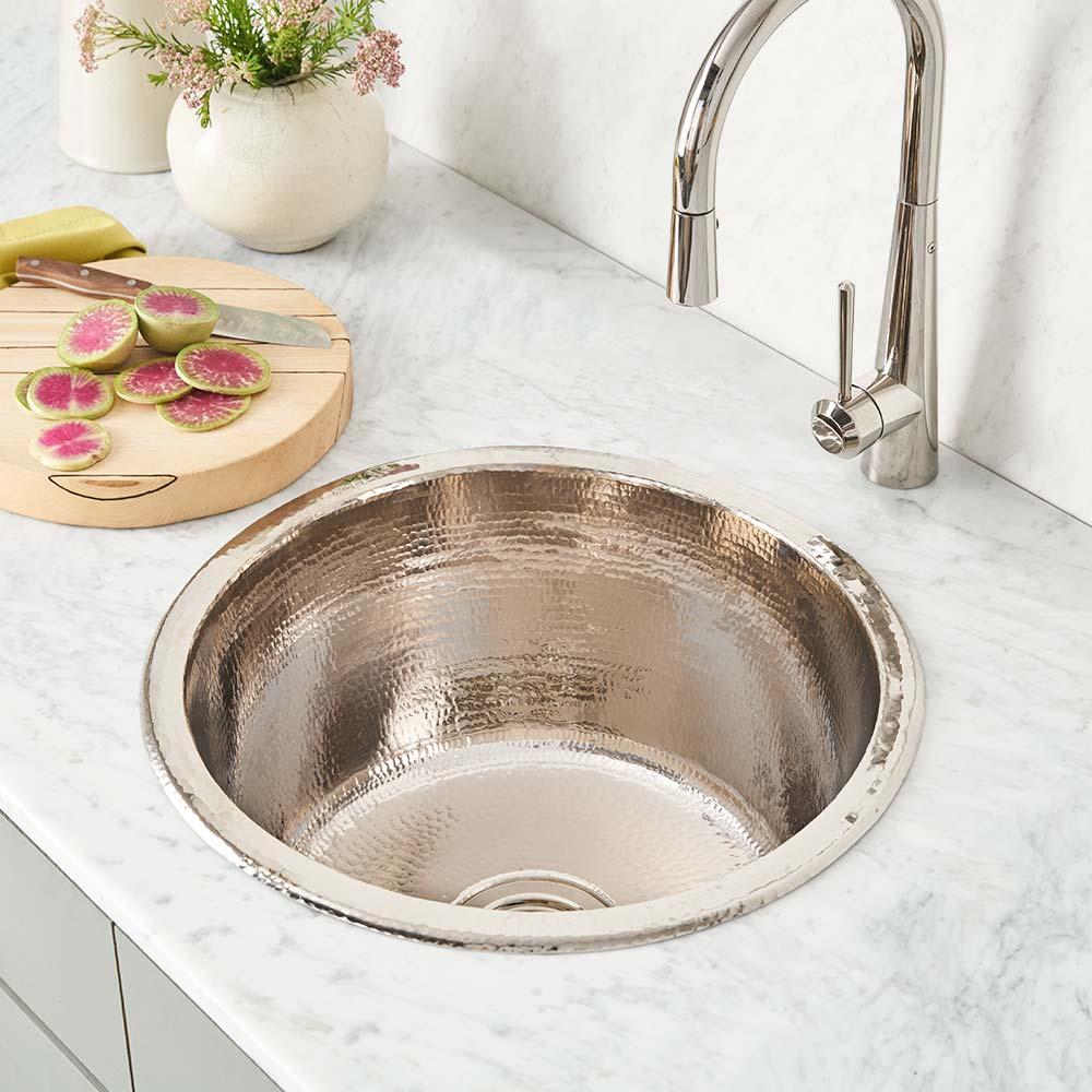redondo grande 17 25 inch copper bar sink native trails