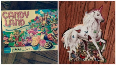 Candy Land unicorn puzzle