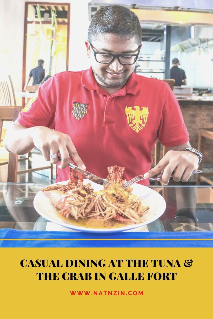 Casual Dining at The Tuna & The Crab in Galle Fort