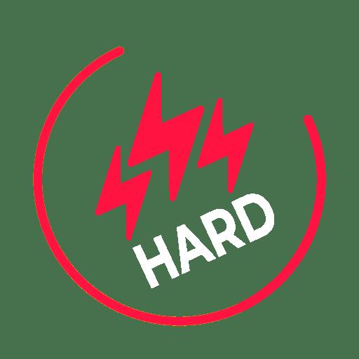 Hard level icon