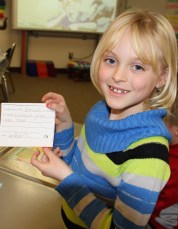 Students enjoy writing the positive messages to each other.©Natrona County School District