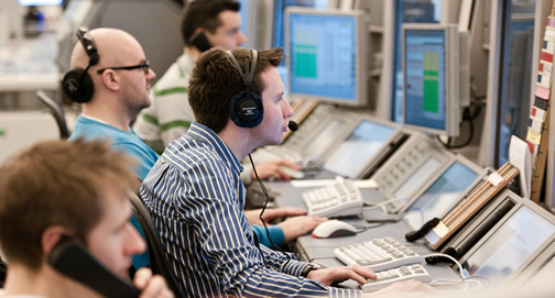 Air traffic controllers standing by to guide Santa through UK airspace.