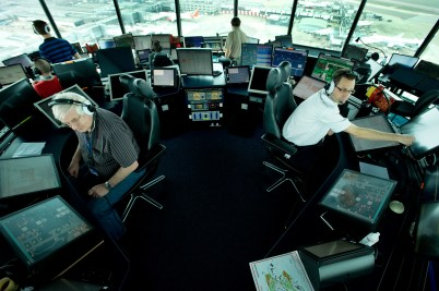 Inside Heathrow Tower
