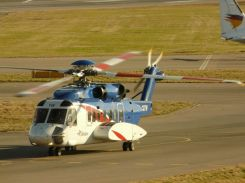 Helicopters regularly visit the oil rigs