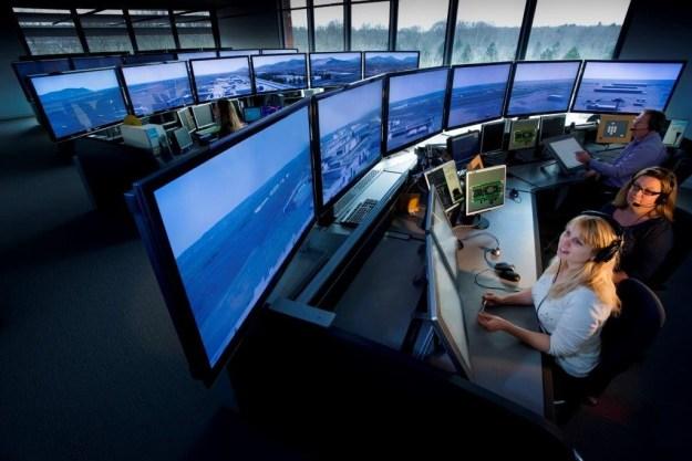 3D aerodrome simulator