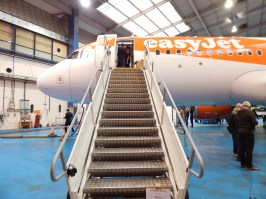 easyJet steps to board down