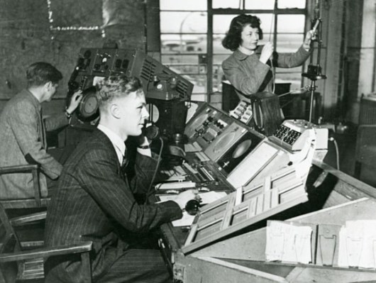 1950s Heathrow air traffic control