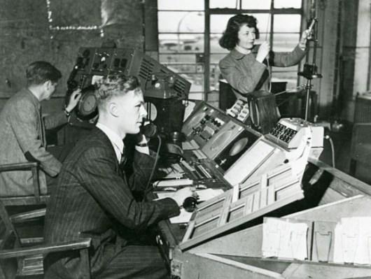 1950s Heathrow air traffic control
