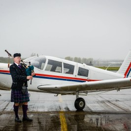 Cherokee 6 returns to Glasgow Airport to celebrate the airport's 50 year anniversary (courtesy of Glasgow Airport)