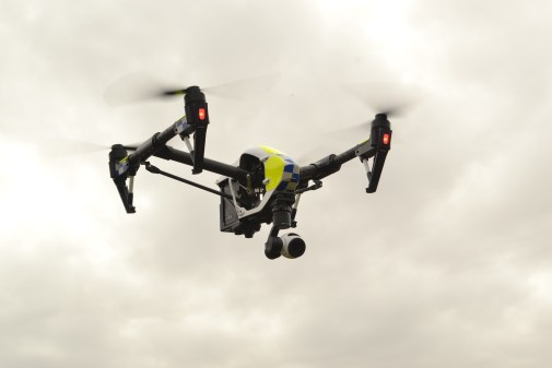 Police drone in action