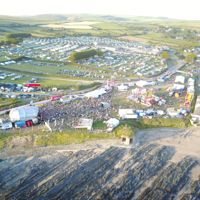 View of OceanFest from police drone