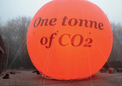 One tonne of co2 balloon