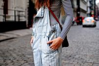 Overalls and striped shirts