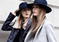 Navy blue hats and borrowed-from-the-boys blazers via Zara