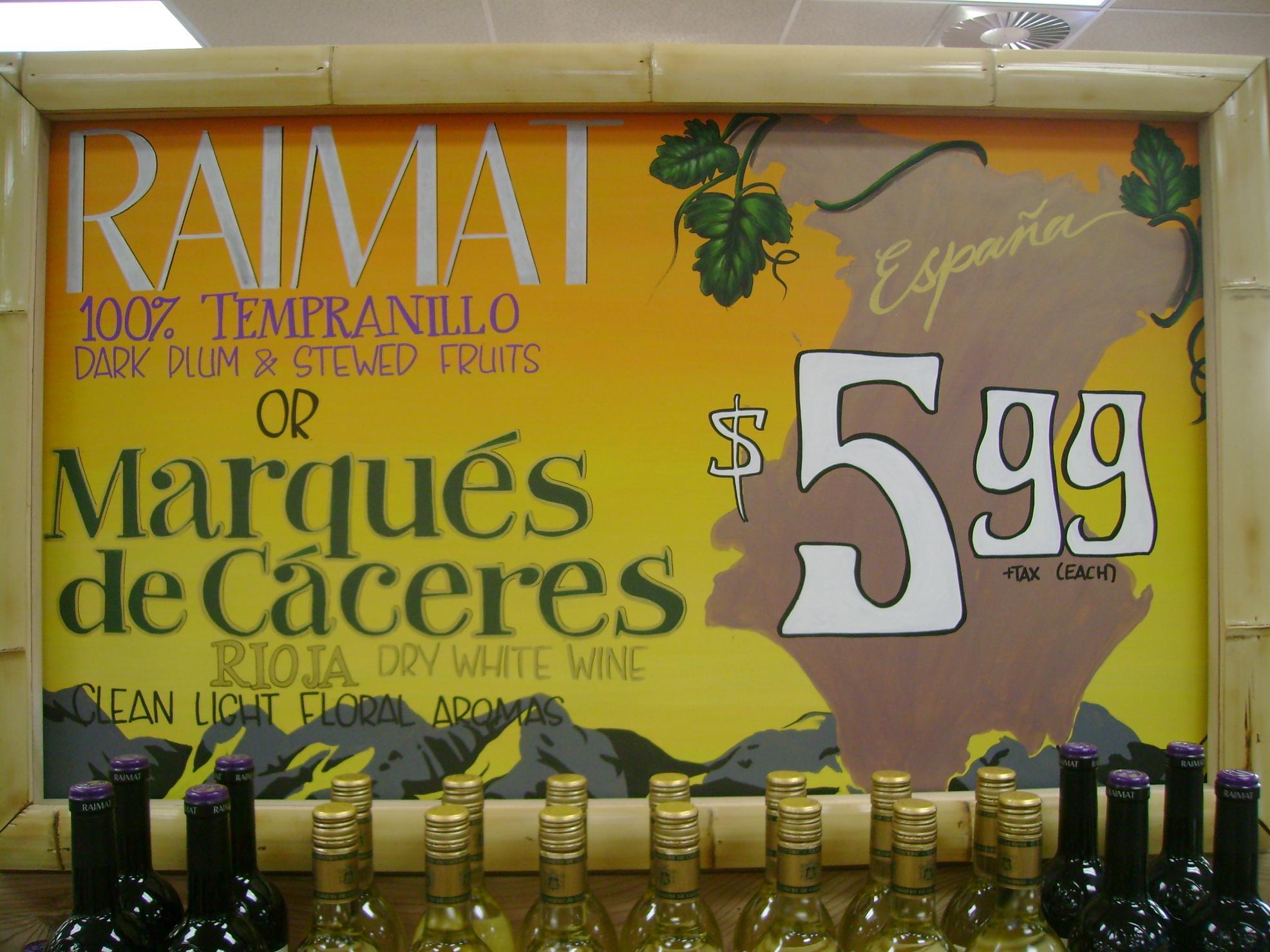 Spanish wine...