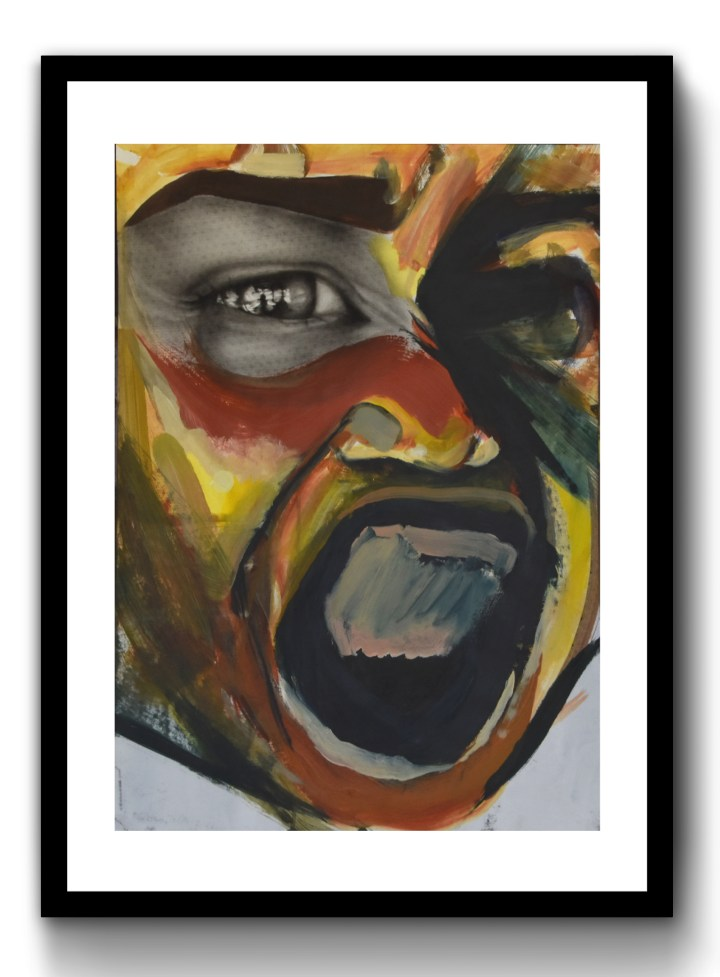 Yelling Face, 2019, 420mm x 594mm