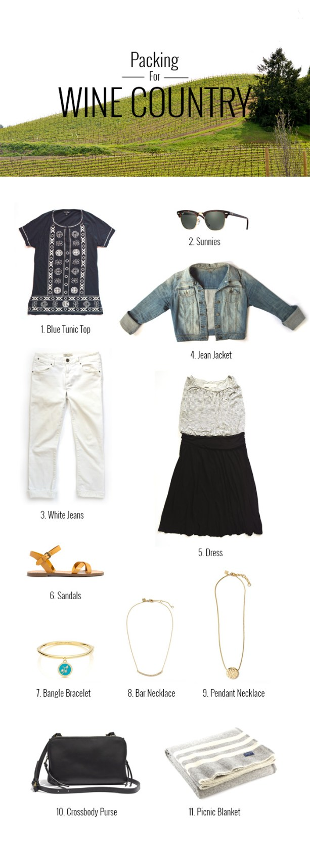 Packing List for a Weekend in Wine Country // Nattie on the Road