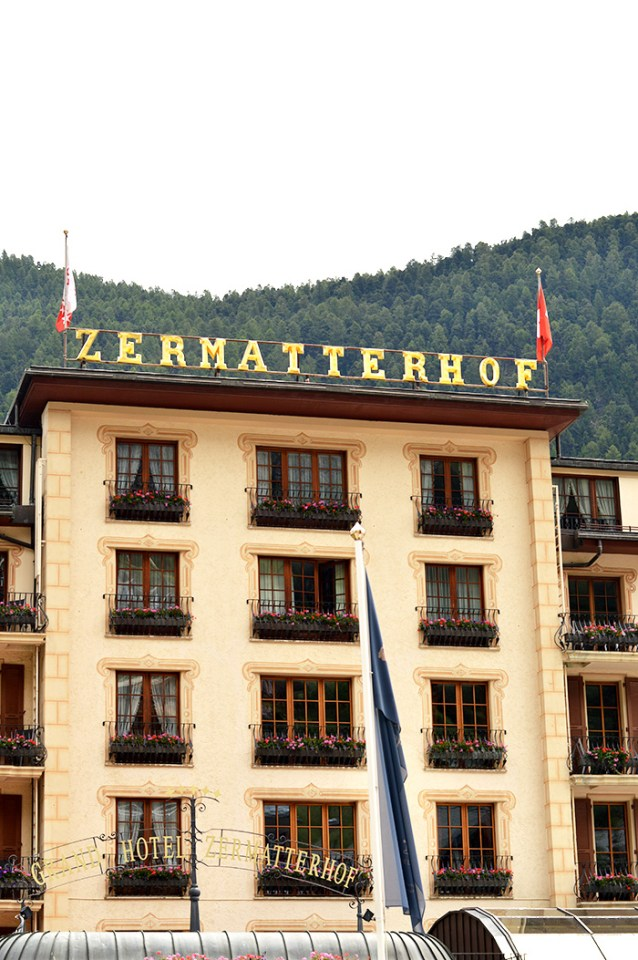 Fancy hotel in the mountains - Zermatt Switzerland // Nattie on the Road