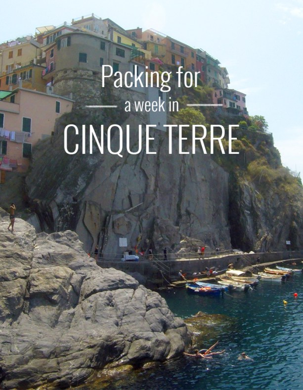 Packing for a week in Cinque Terre // Nattie on the Road
