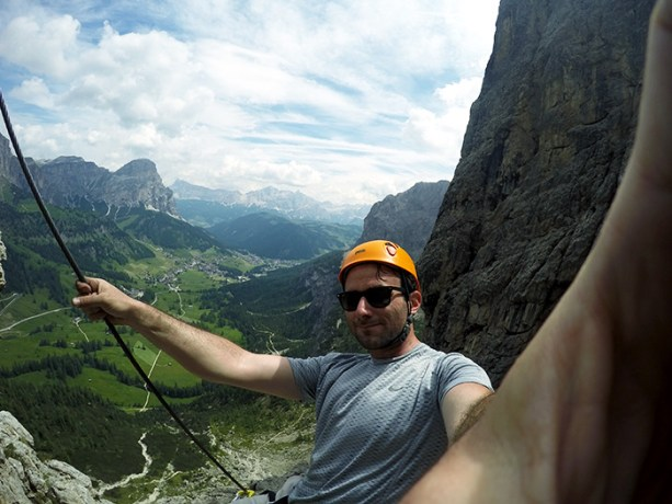 Get your adrenaline rush climbing up a mountain in the Dolomites // Nattie on the Road