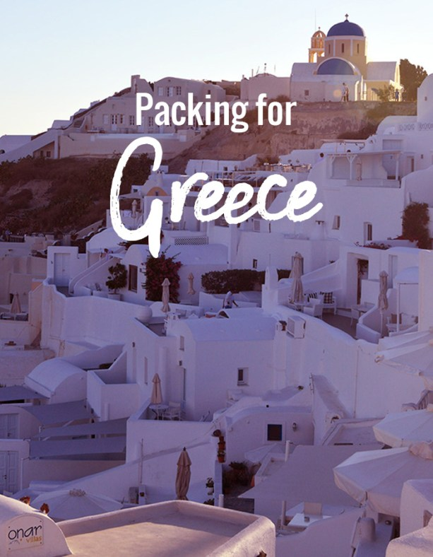 Packing for Greece // Nattie on the Road