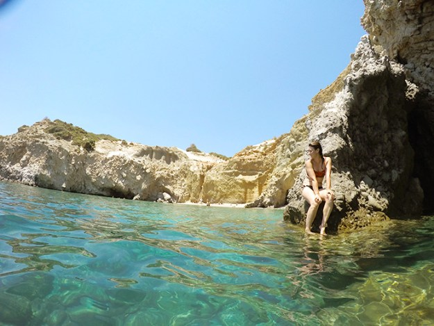 Tsigrado Beach, Milos Greece // Nattie on the Road