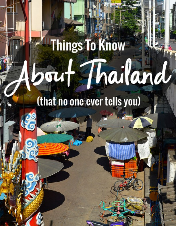 Things to know about Thailand // Nattie on the Road