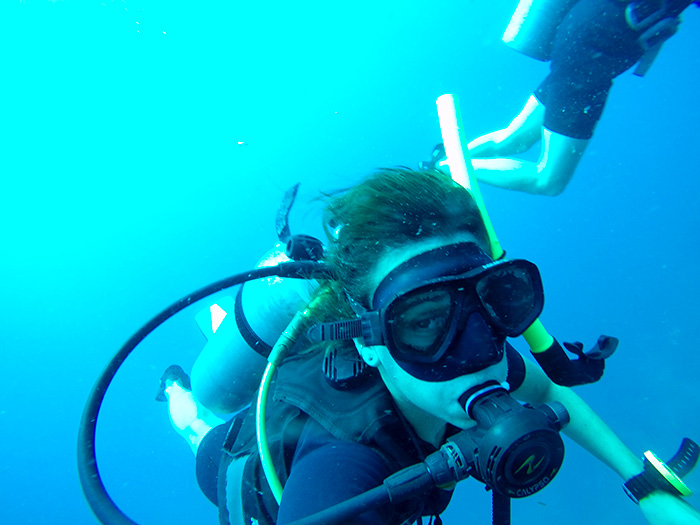 scuba selfy!