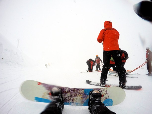 Snowboarding in Niseko, Japan