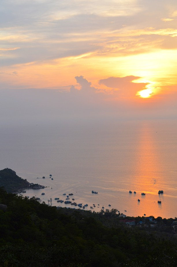 sunsets on Koh Tao
