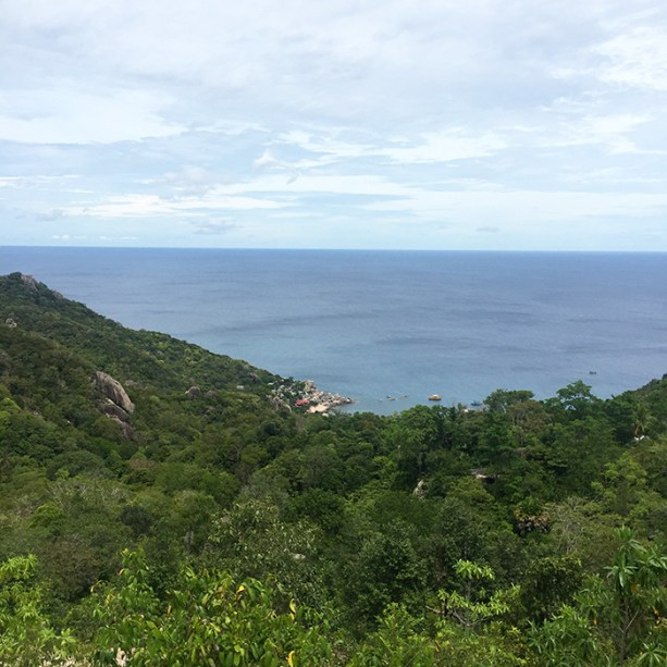 Looking down on Tanote Bay, Koh Tao