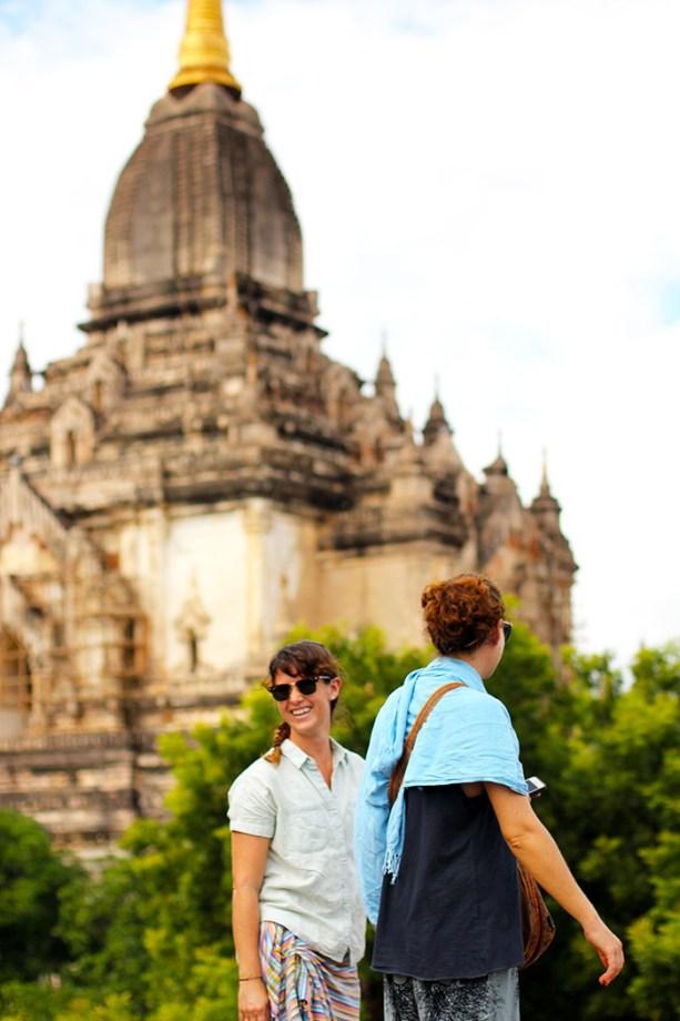 Visiting pagodas in Bagan