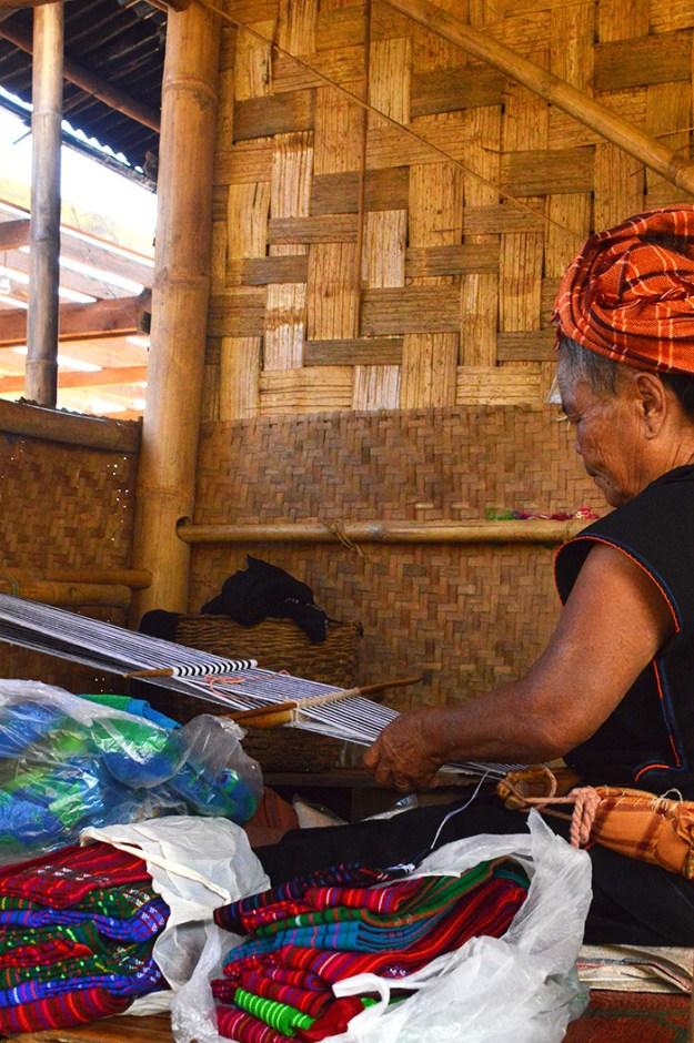 textile making in Myanmar