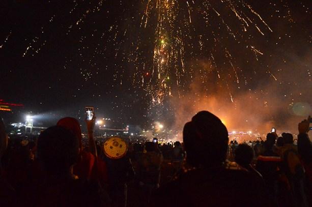 Fireworks at Myanmar's Balloon Festival