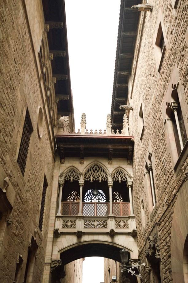 The Gothic Bridge, Barcelona Spain