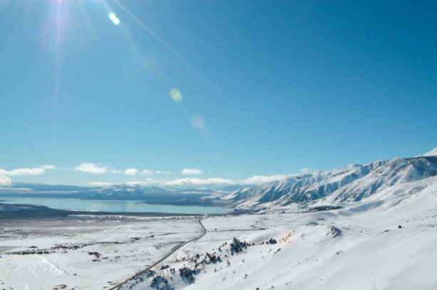 Mono Lake in the snow