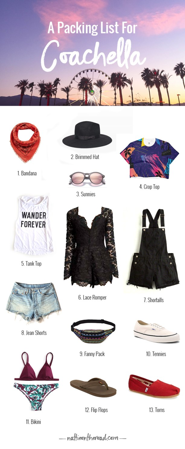 Coachella Packing List