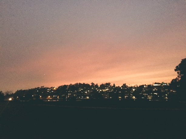 Sunset over Silver Lake LA