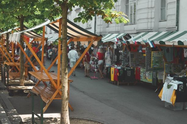 Outdoor markets in Ljubljana