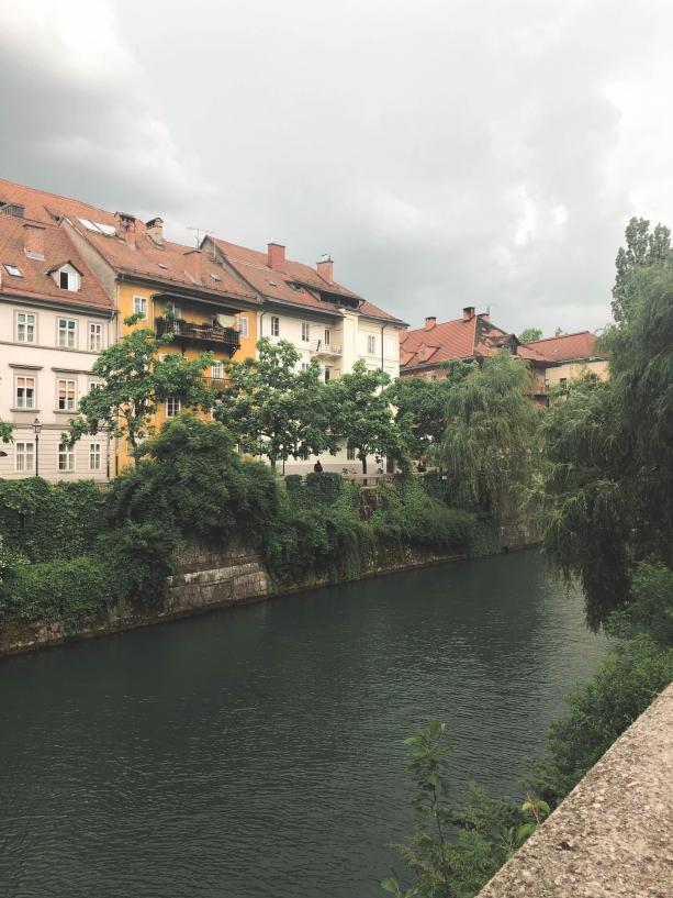 Riverside views in Ljubljana