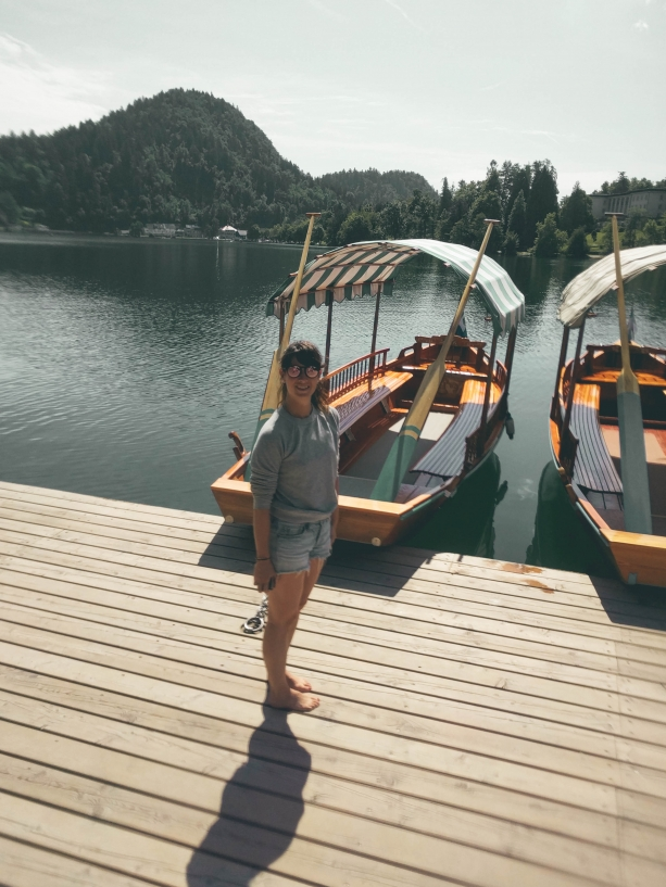 Boating around Lake Bled
