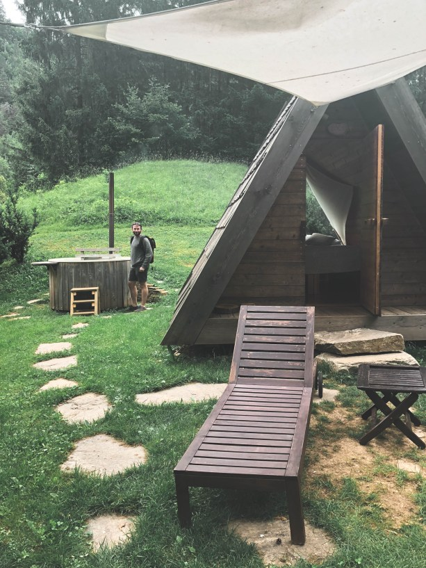 glamping cabins at Lake Bled