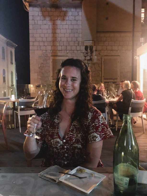 Wine, cheese, and charcuterie in Split Croatia