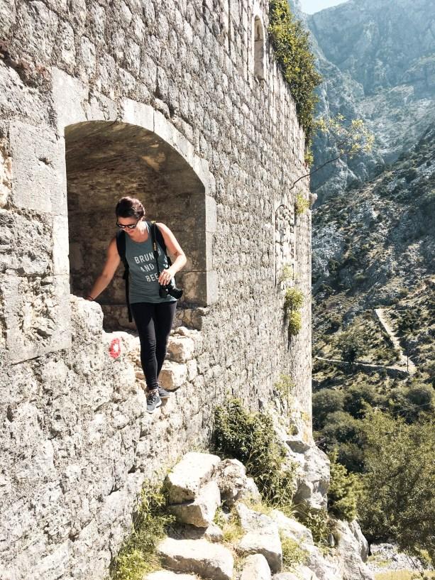 Hiking the city walls of Kotor