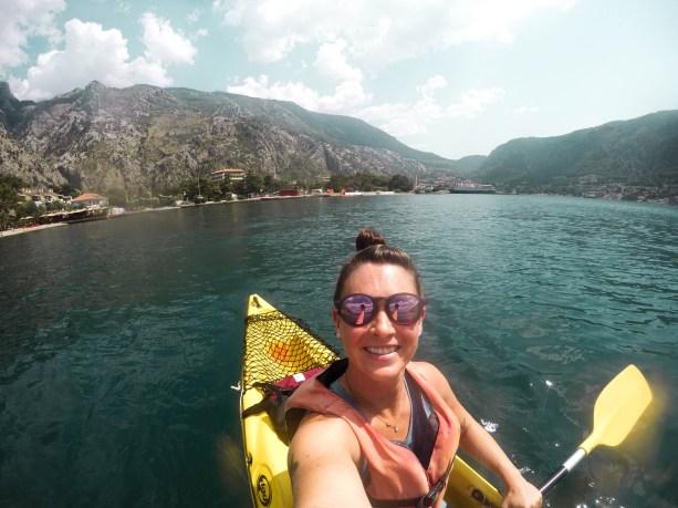 Kayaking on Kotor Bay