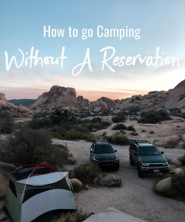 How to go camping without a reservation